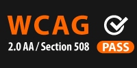 wcag 2.0 AA and 508 logo